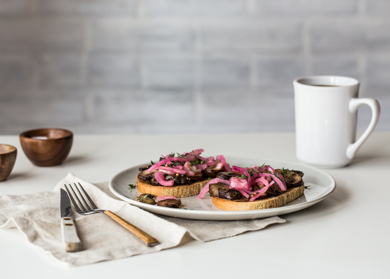 Mushroom Toast with Pickled Onions is the toast you should be making for lunch