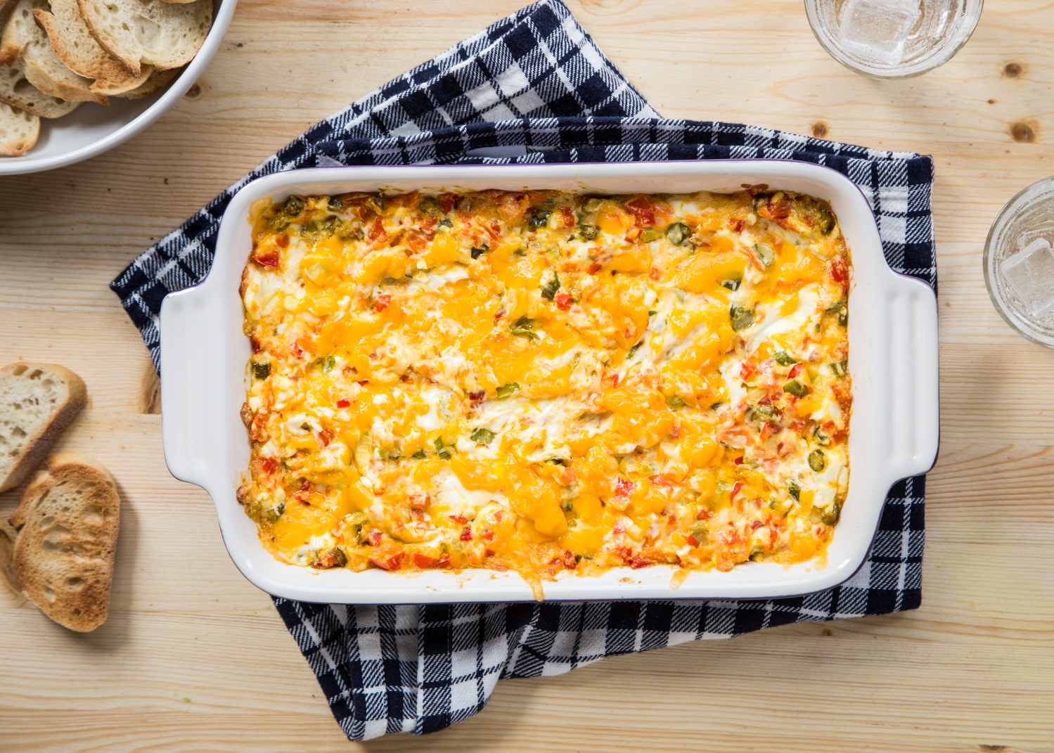Baked Vegetable Cheese Dip is a great Spring appetizer for Easter, Mother's Day or a graduation party
