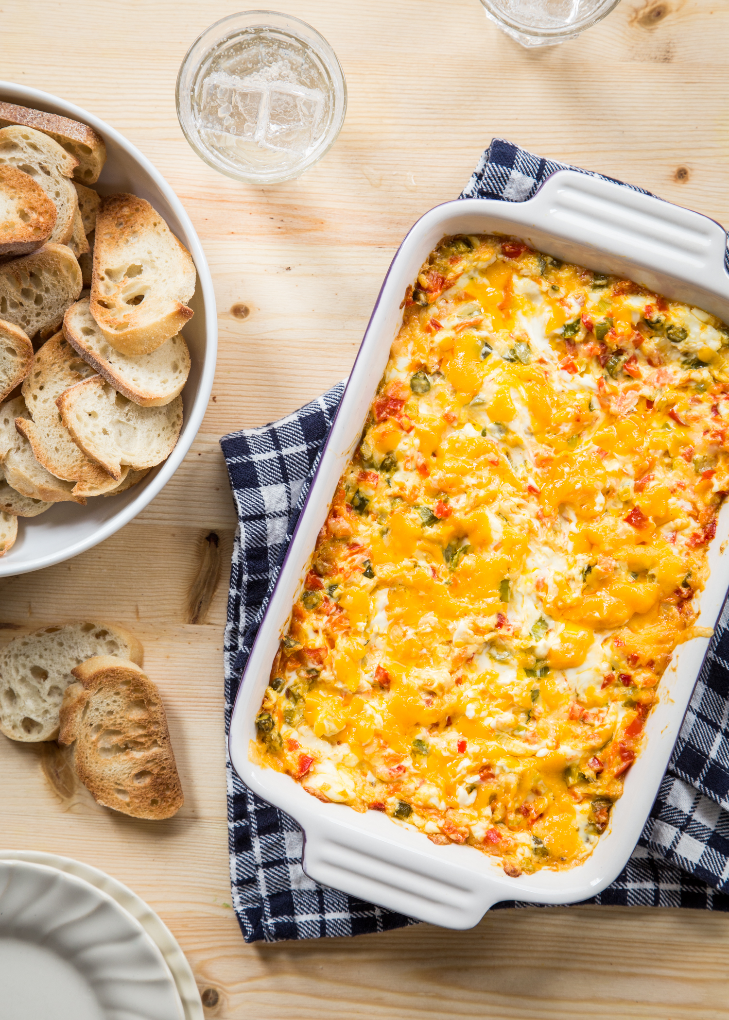 Baked Vegetable Cheese Dip for all your Spring entertaining needs