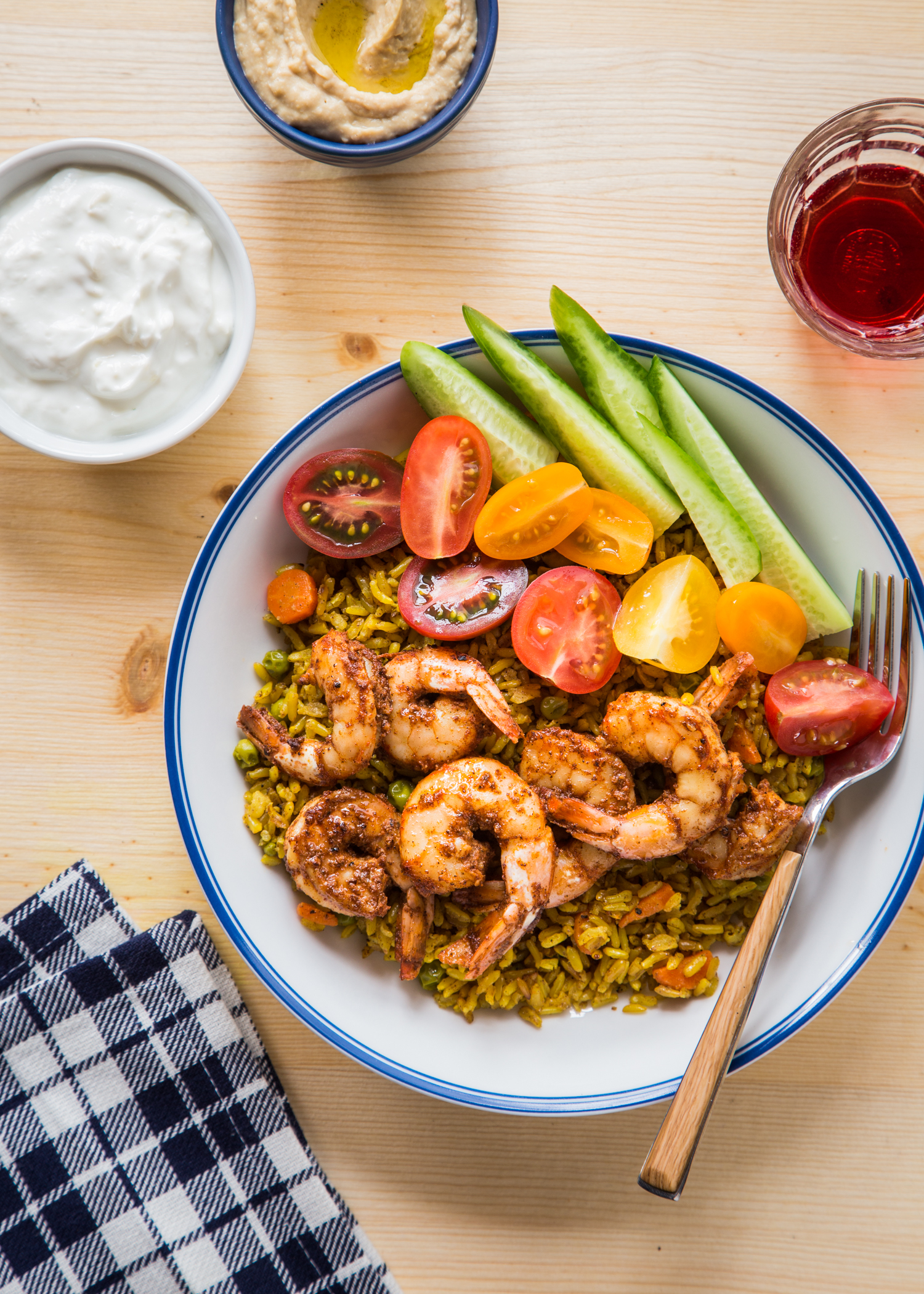 Shrimp Shawarma Bowls are a spicy twist on classic Shawarma and perfect for meatless Fridays during Lent