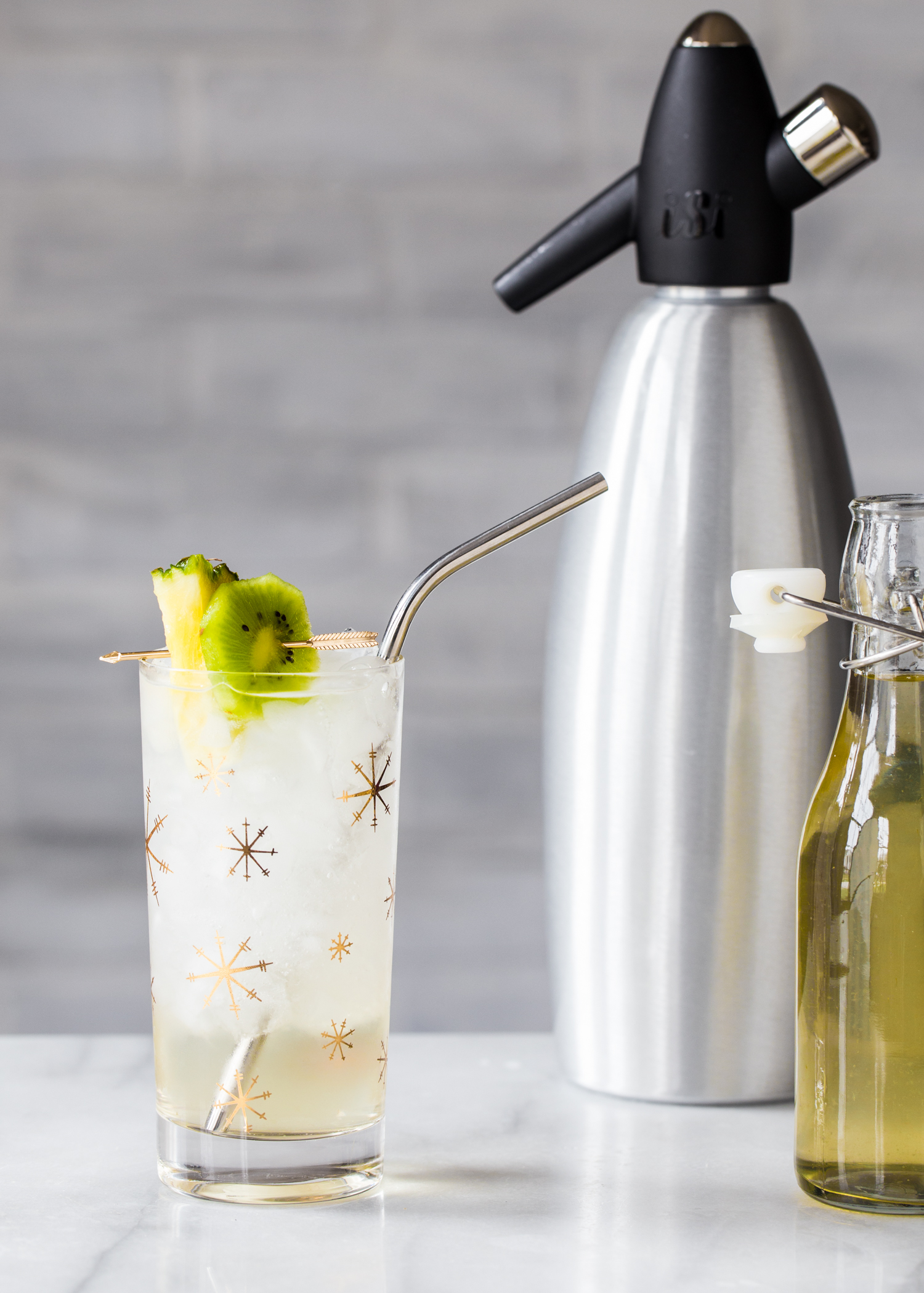 Pineapple Kiwi Shrub Cooler