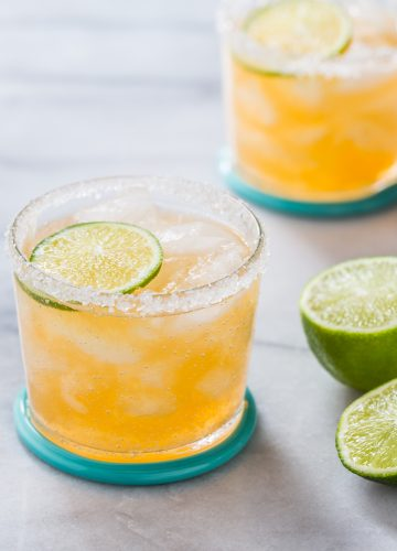 Fresh Cantaloupe Margaritas because Summer is almost here!