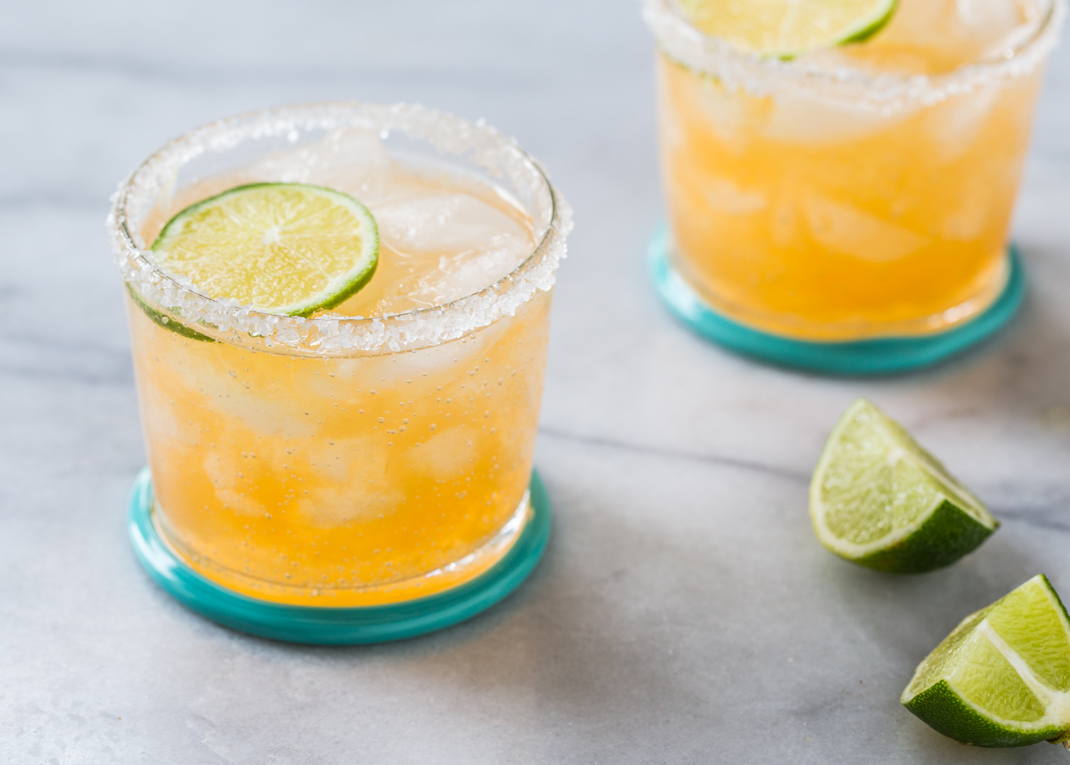 Fresh Cantaloupe Margarita for cocktail Friday from Jelly Toast