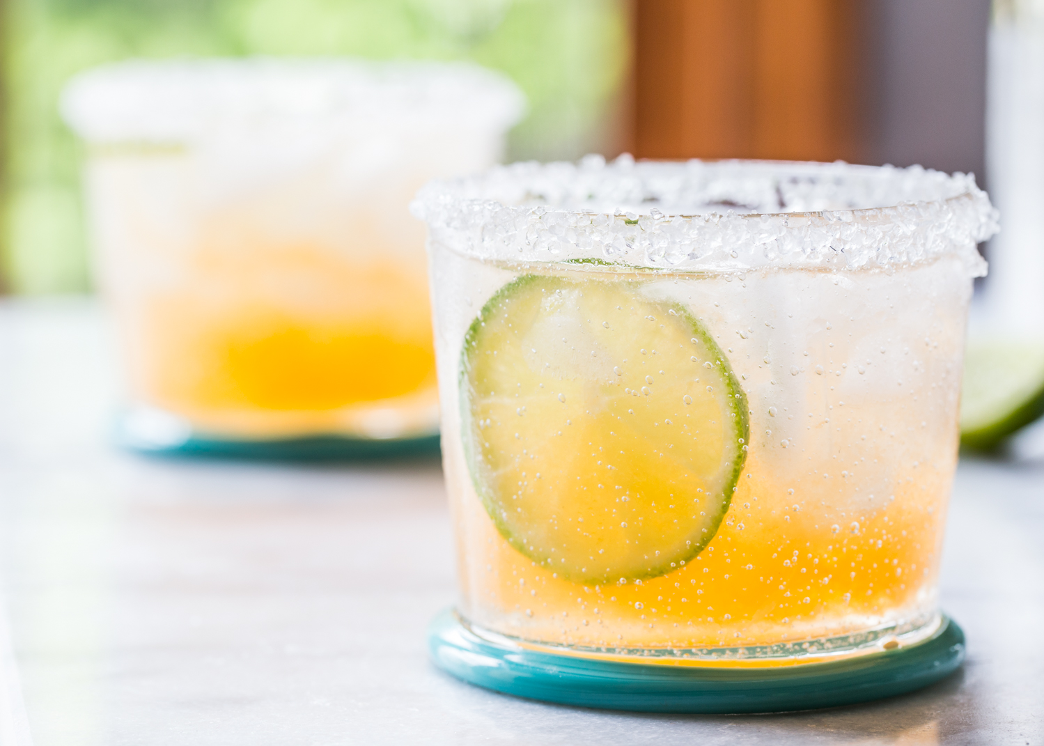 Fresh Cantaloupe Margaritas for summer!