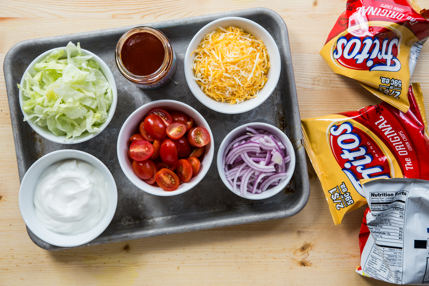 Toppings Bar for Meatless Walking Tacos