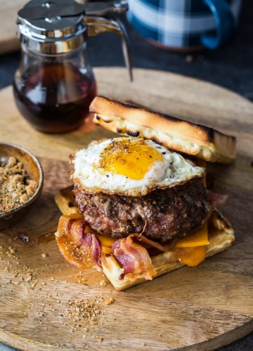 Smoky Maple & Sage Breakfast Pork Burger