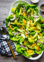 Avocado Citrus Salad full of fresh butter lettuce, creamy avocado, and zippy oranges