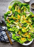 Avocado Citrus Salad full of fresh butter lettuce, creamy avocado, and zippy oranges