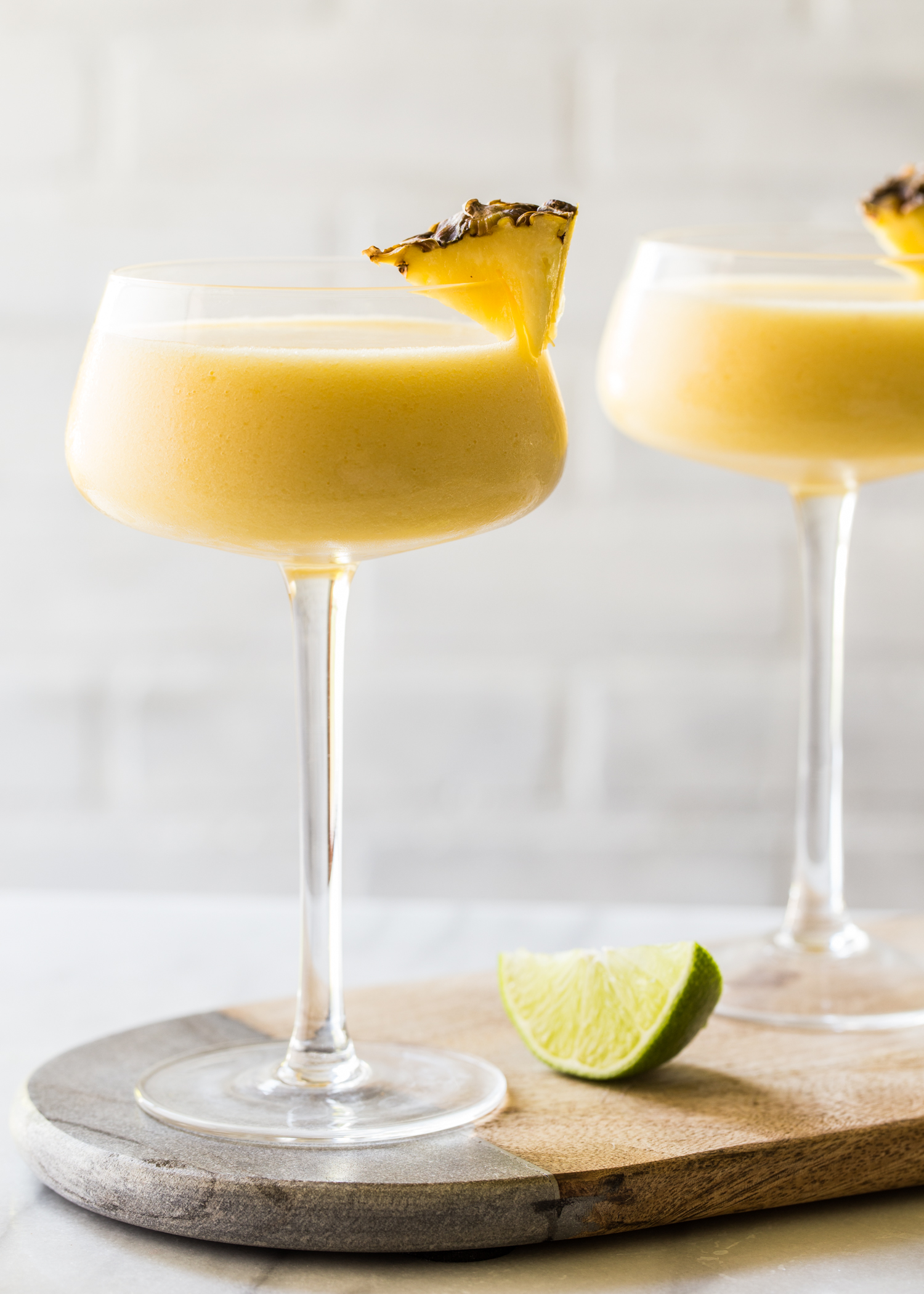 Frozen Pineapple Mango Daiquiri for summer night cocktail hour
