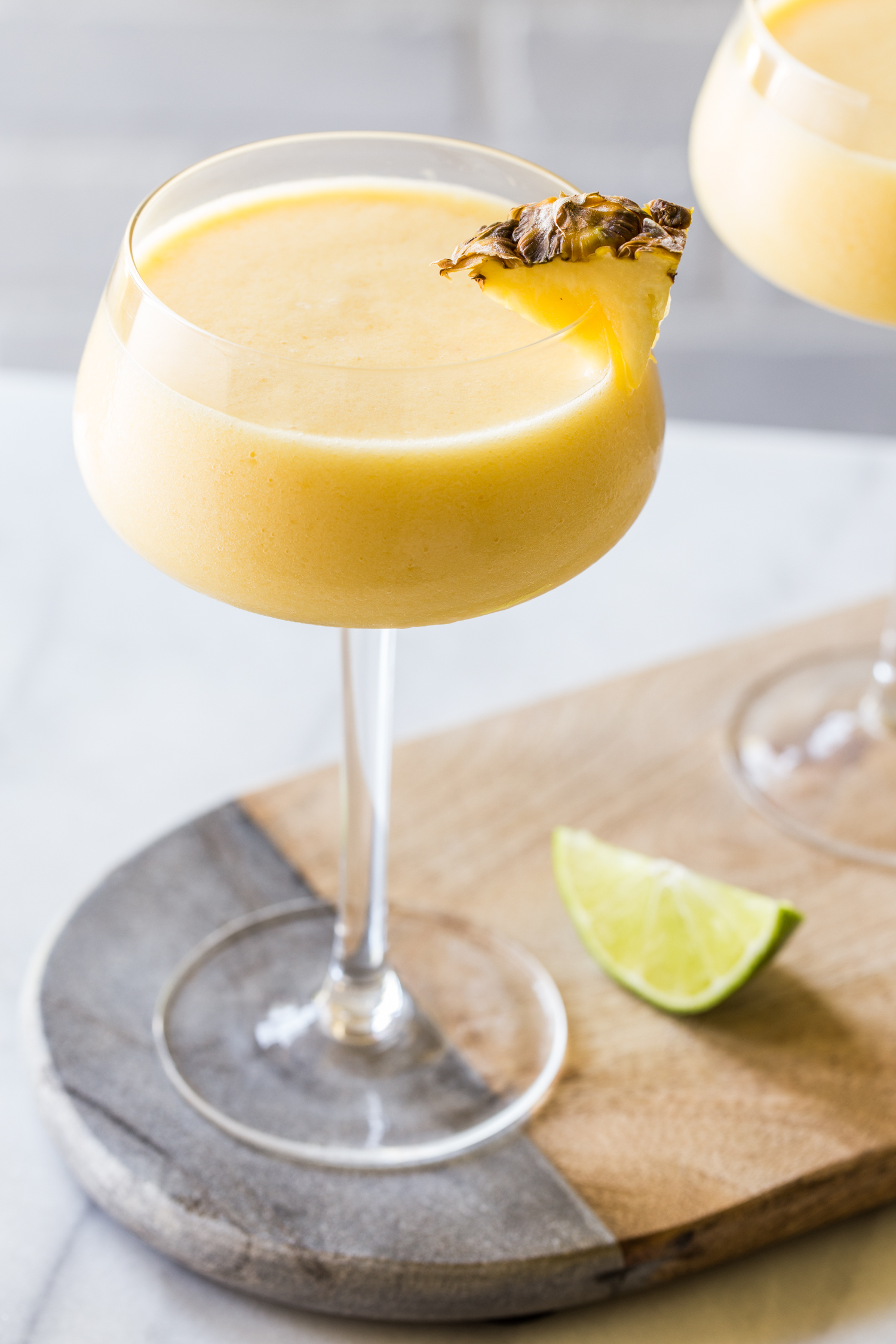 Frozen Pineapple Mango Daiquiri Cocktails