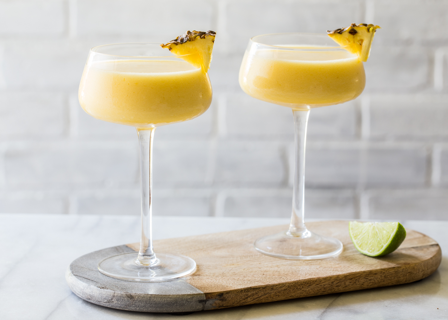 Frozen Pineapple Mango Daiquiri for a cocktail that will beat the summer heat