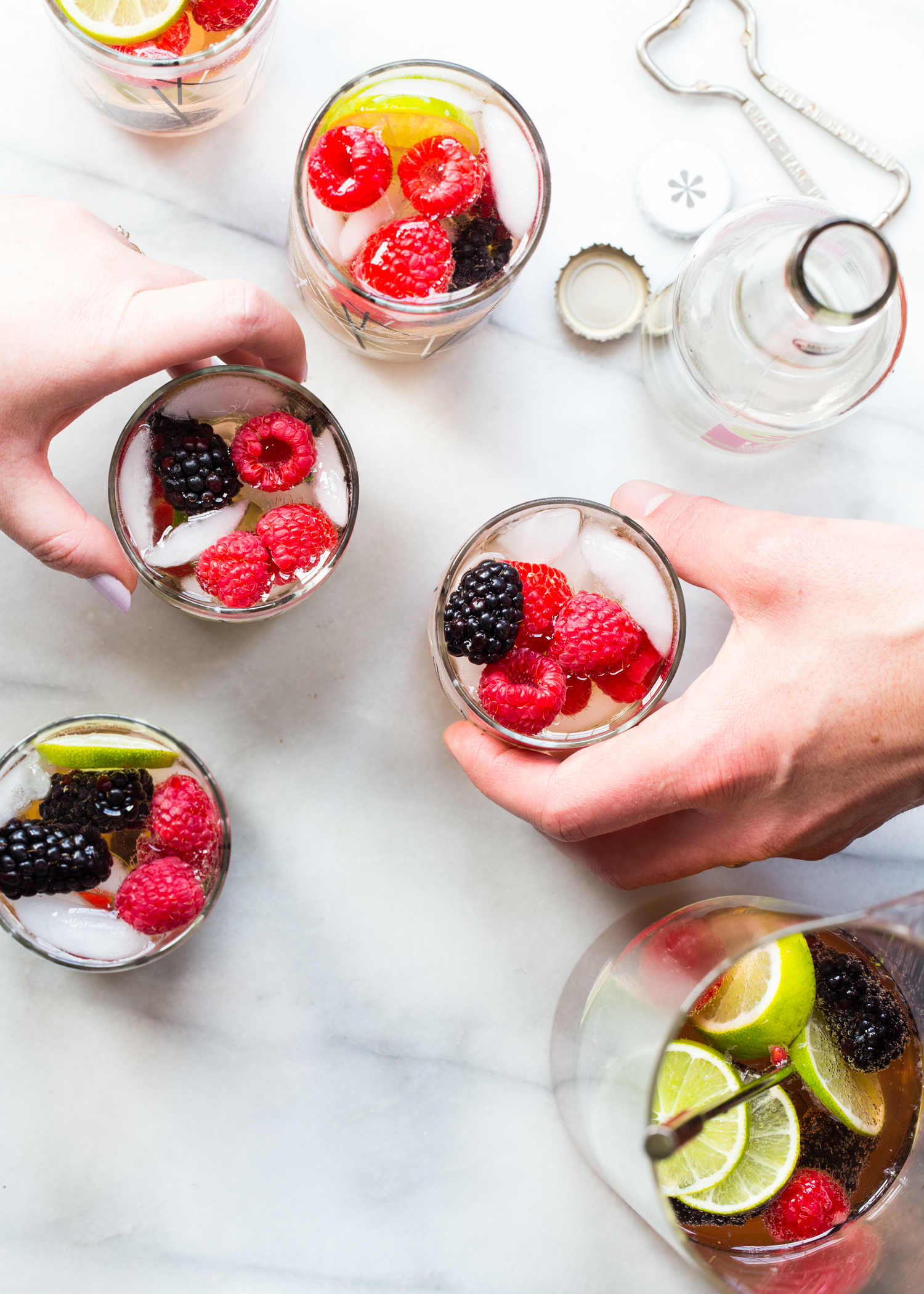 Sparkling Berry Sangria for all your summer parties!