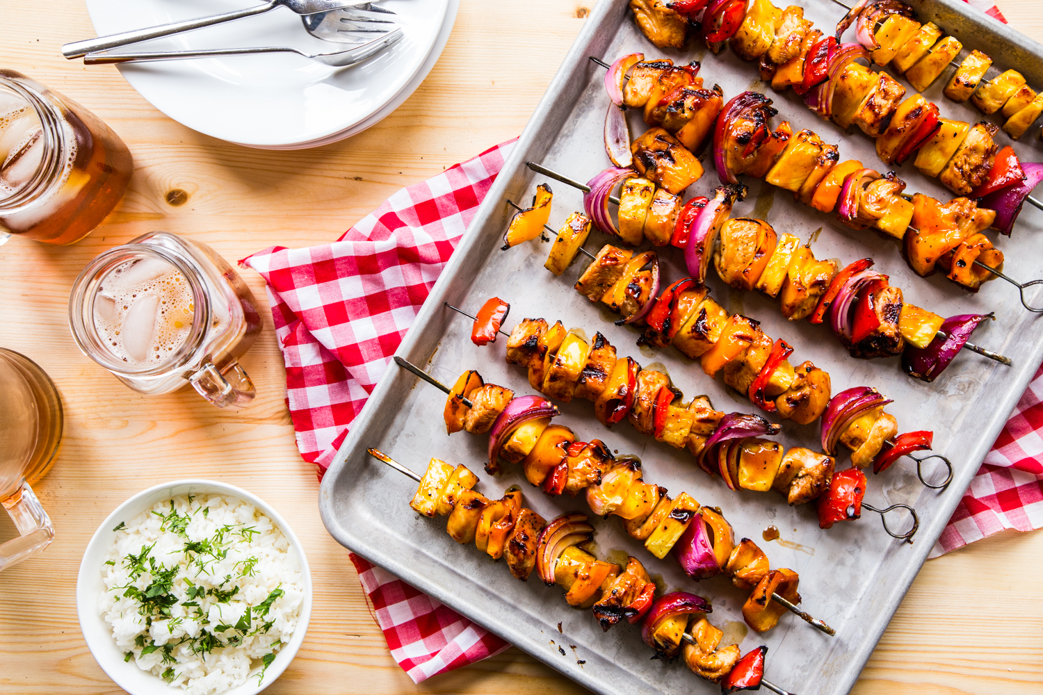 Tropical BBQ Chicken Skewers