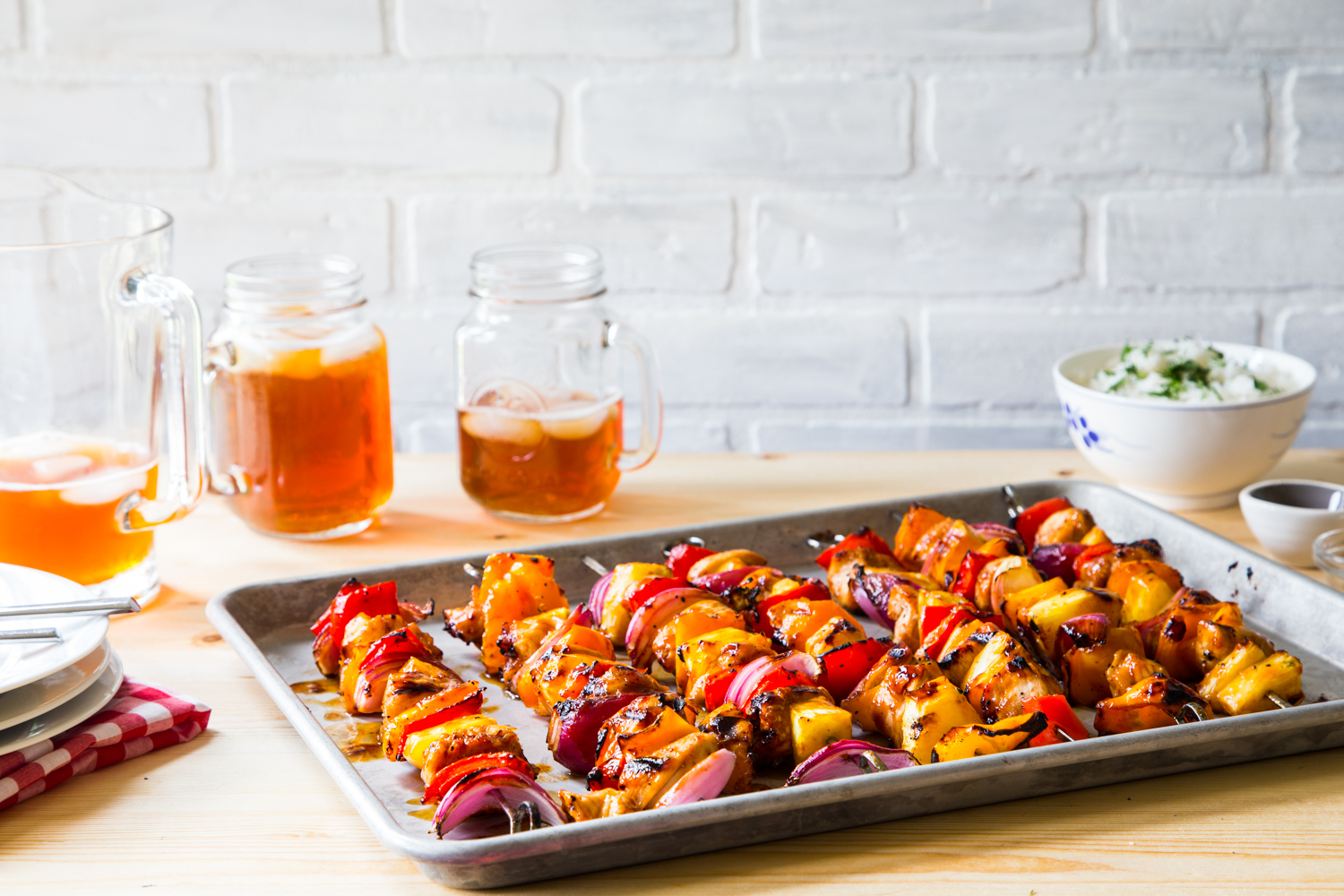 Tropical BBQ Chicken Skewers with ALDI for a quick and tasty summer dinner