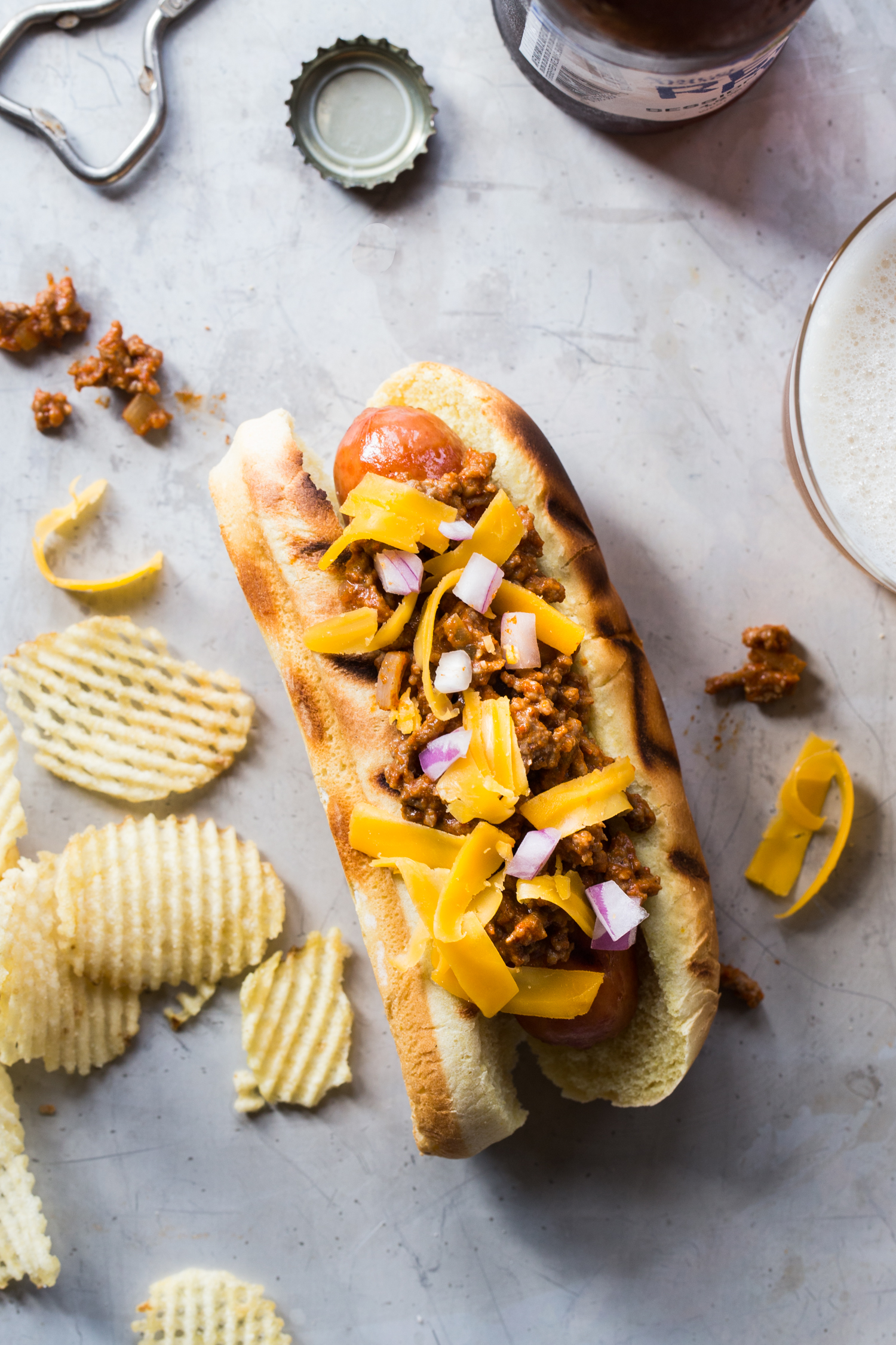 Homemade Chili Cheese Dogs - Homemade Hot Dog Toppings