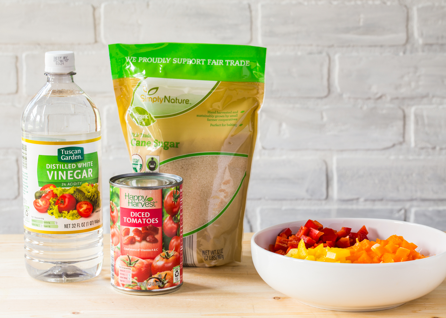 Ingredients from ALDI for Homemade Hot Dog Toppings