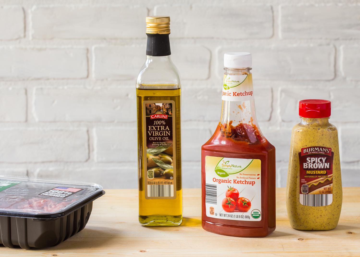 Fresh ingredients from ALDI for Homemade Hot Dog Toppings