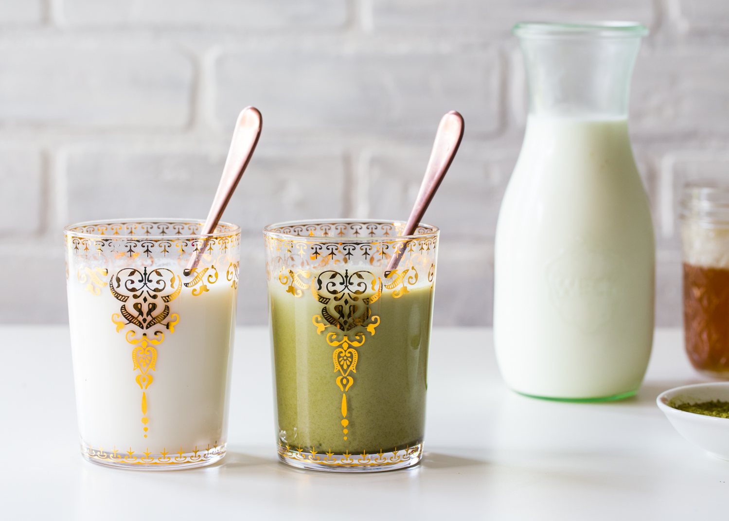 Flavored Milk - Lavender Honey Milk with a Matcha Twist