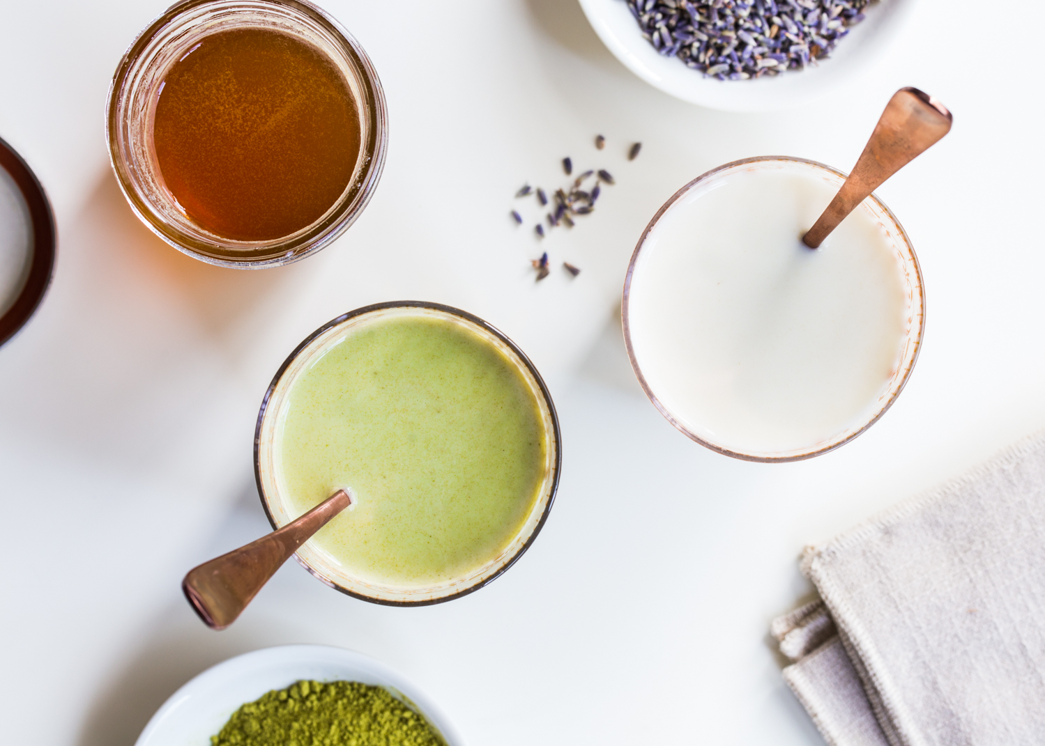 Flavored Milk - Lavender Honey Milk with a Matcha Twist