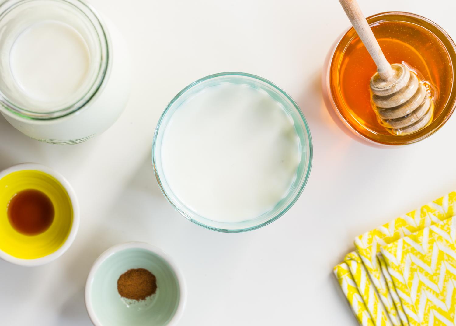 Flavored Milk - Vanilla Cinnamon Milk with honey, cinnamon and vanilla