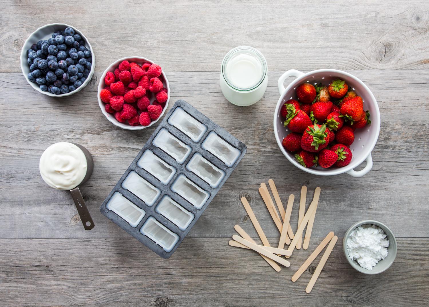 Creamy Vanilla Berry Popsicles