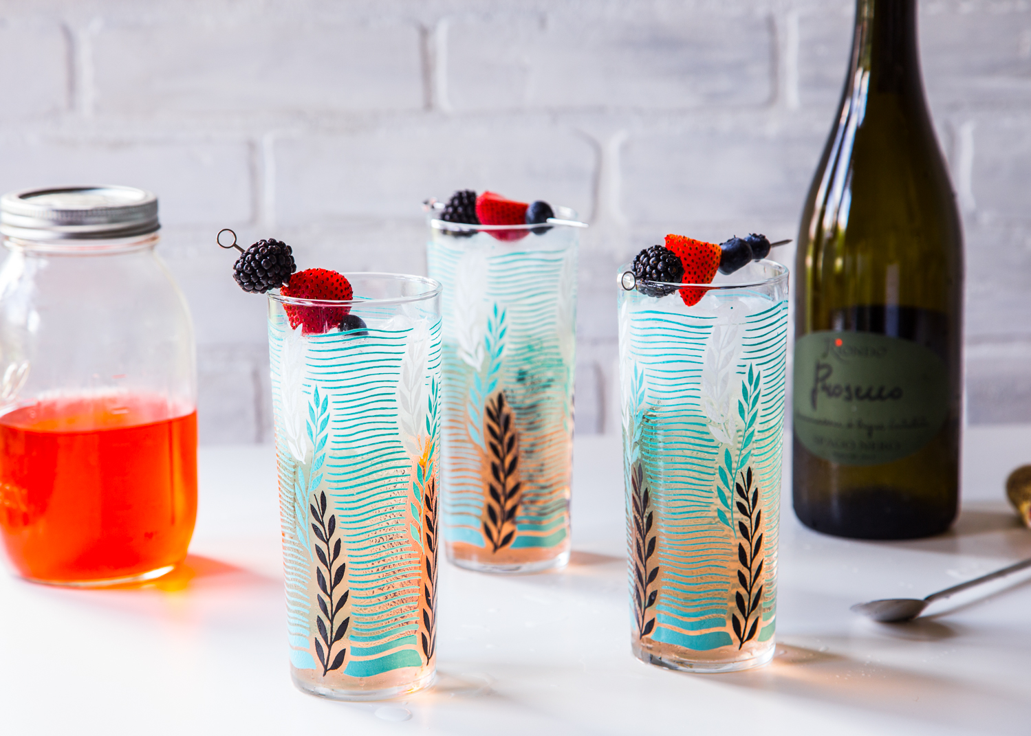 Berry Shrub Spritzer for a refreshing summer drink