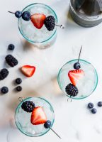 Berry Shrub Spritzer with Prosecco and Triple Berry Shrub Syrup