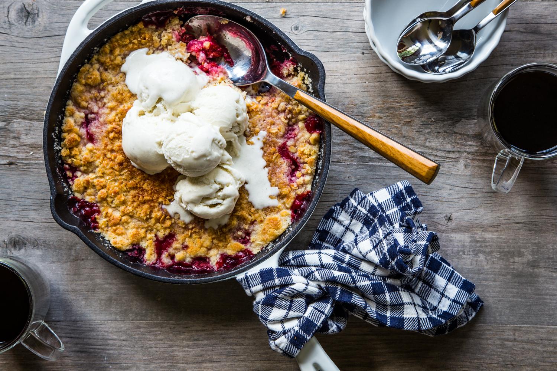 Montmorency Cherry Pie 3 Ways - Montmorency Cherry Crisp with vanilla ice cream from Jelly Toast