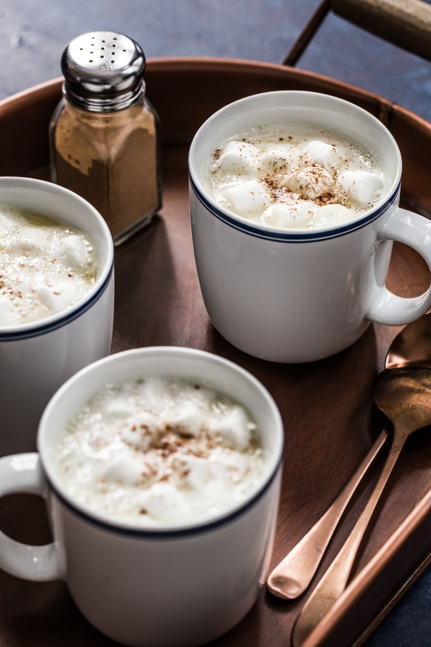 Pumpkin Spice White Hot Chocolate made with whole milk, white ...