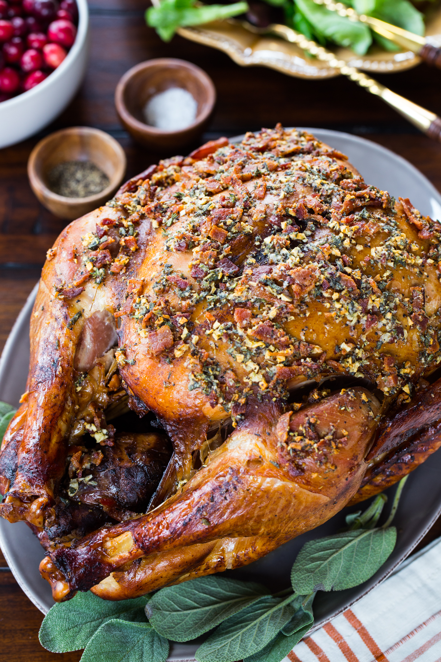 Bacon Herb Oven Roasted Turkey | Jelly Toast
