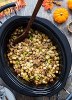Slow Cooker Sausage Filling for Thanksgiving | Jelly Toast