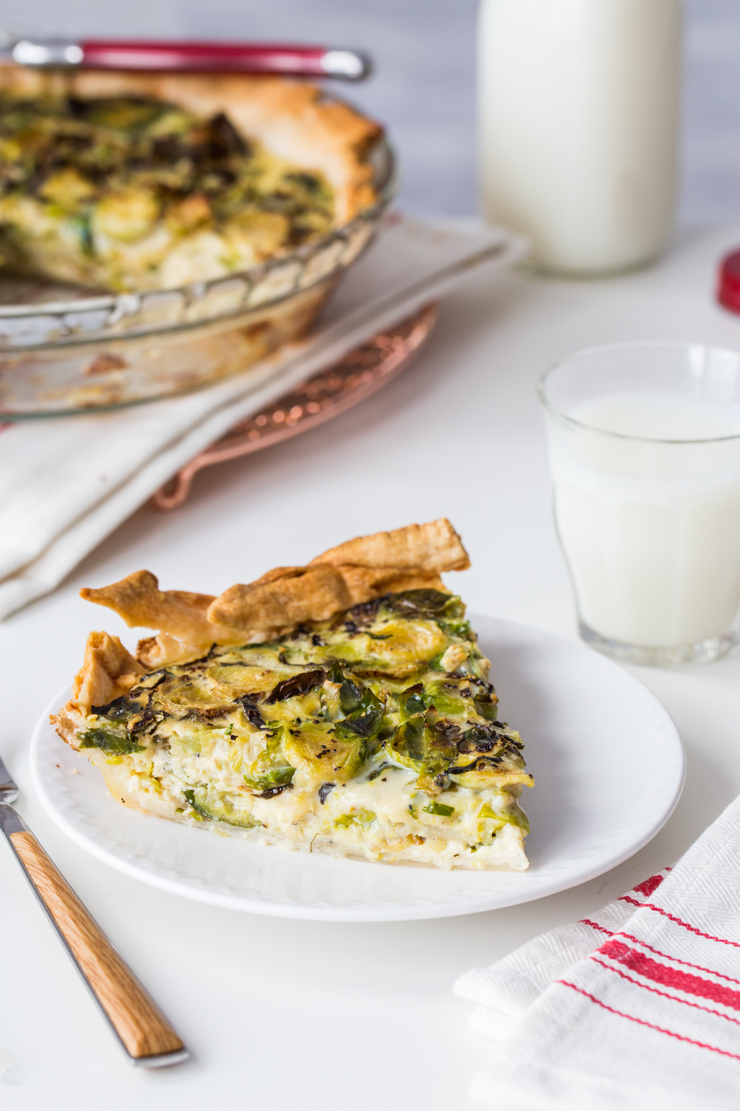 Roasted Brussels Sprout Quiche