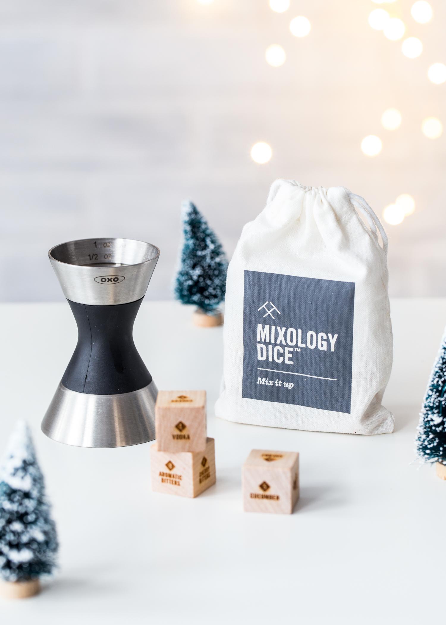 OXO cocktail jigger + Mixology Dice