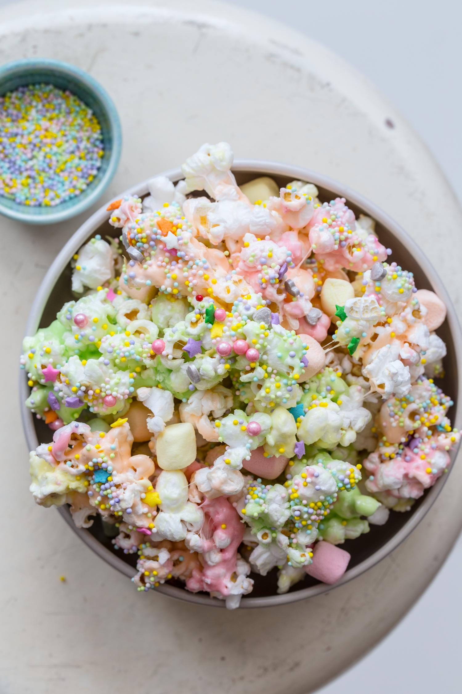 Unicorn Marshmallow Popcorn with Campfire® Marshmallows