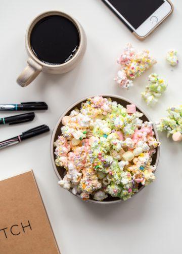 Unicorn Marshmallow Popcorn