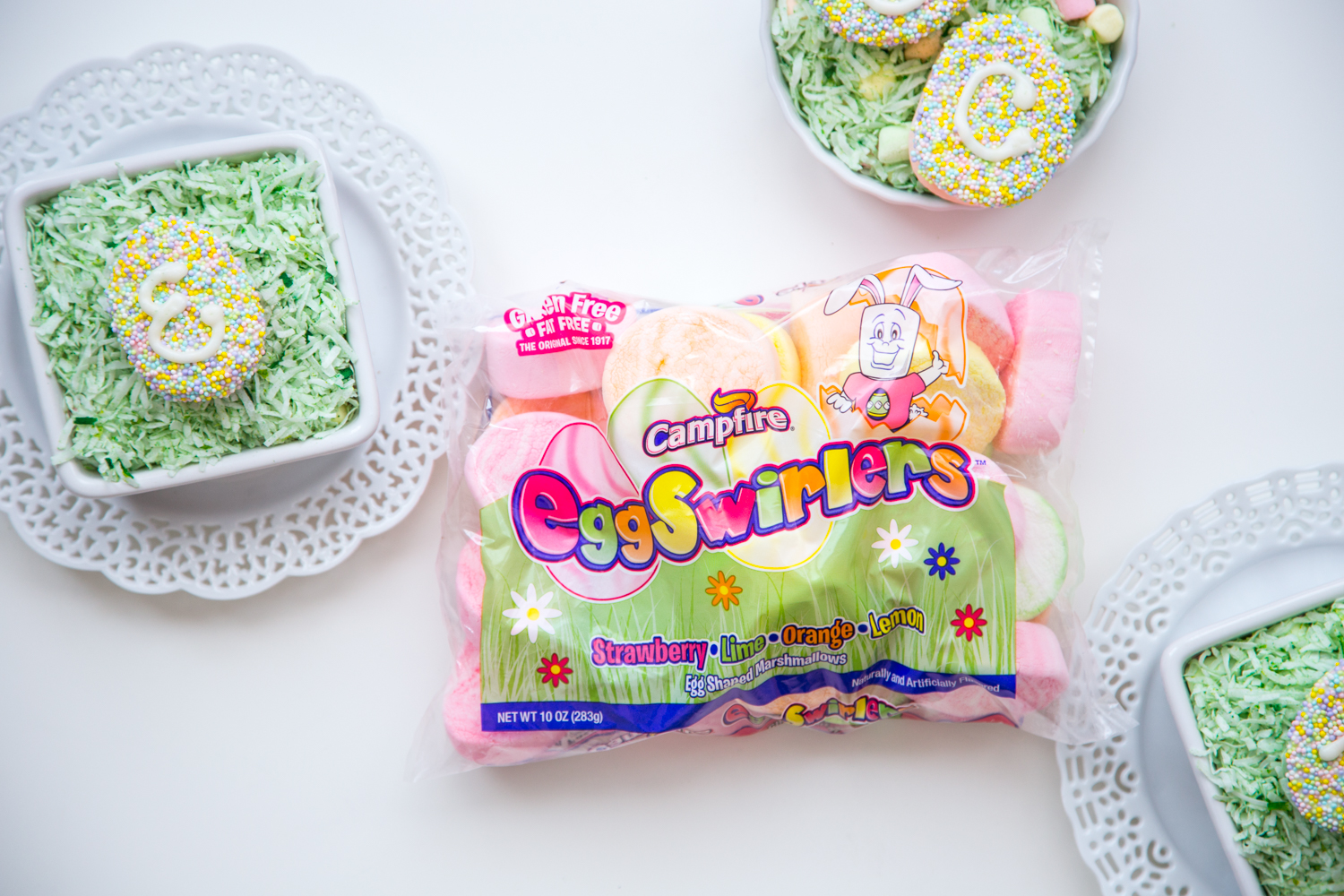 Monogram Marshmallow Easter Eggs with Campfire® Eggswirlers