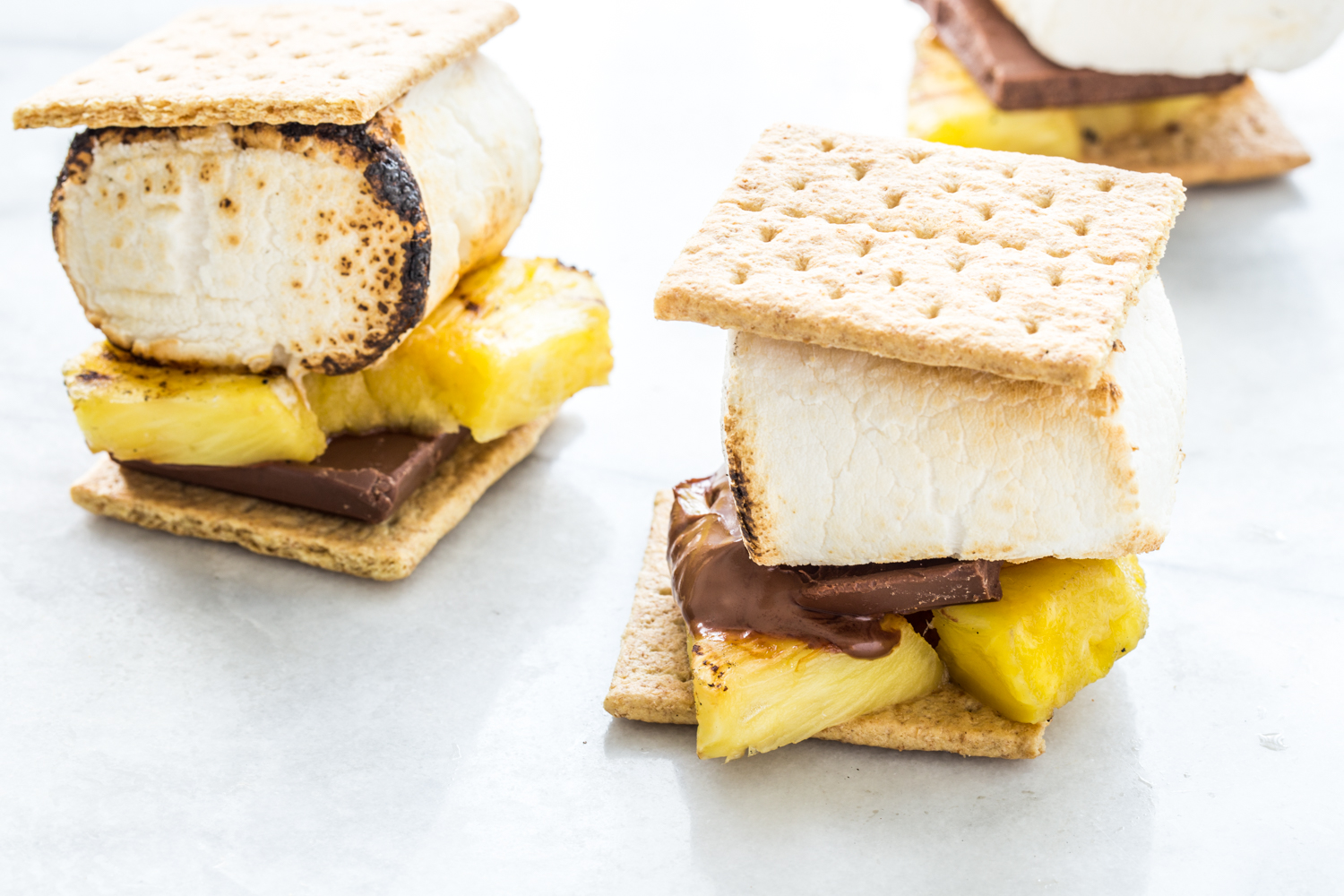 Grilled Pineapple S'mores with sweet grilled pineapple and Campfire® Giant Roaster Marshmallows