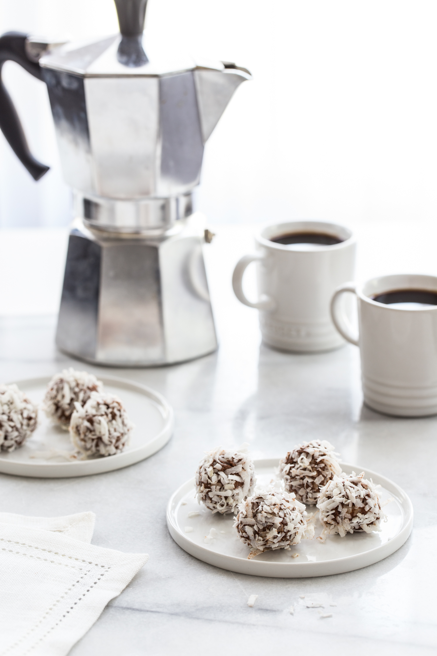 Low Carb Chocolate Coconut Truffles are a great low carb treat full of healthy fats and low on sugar