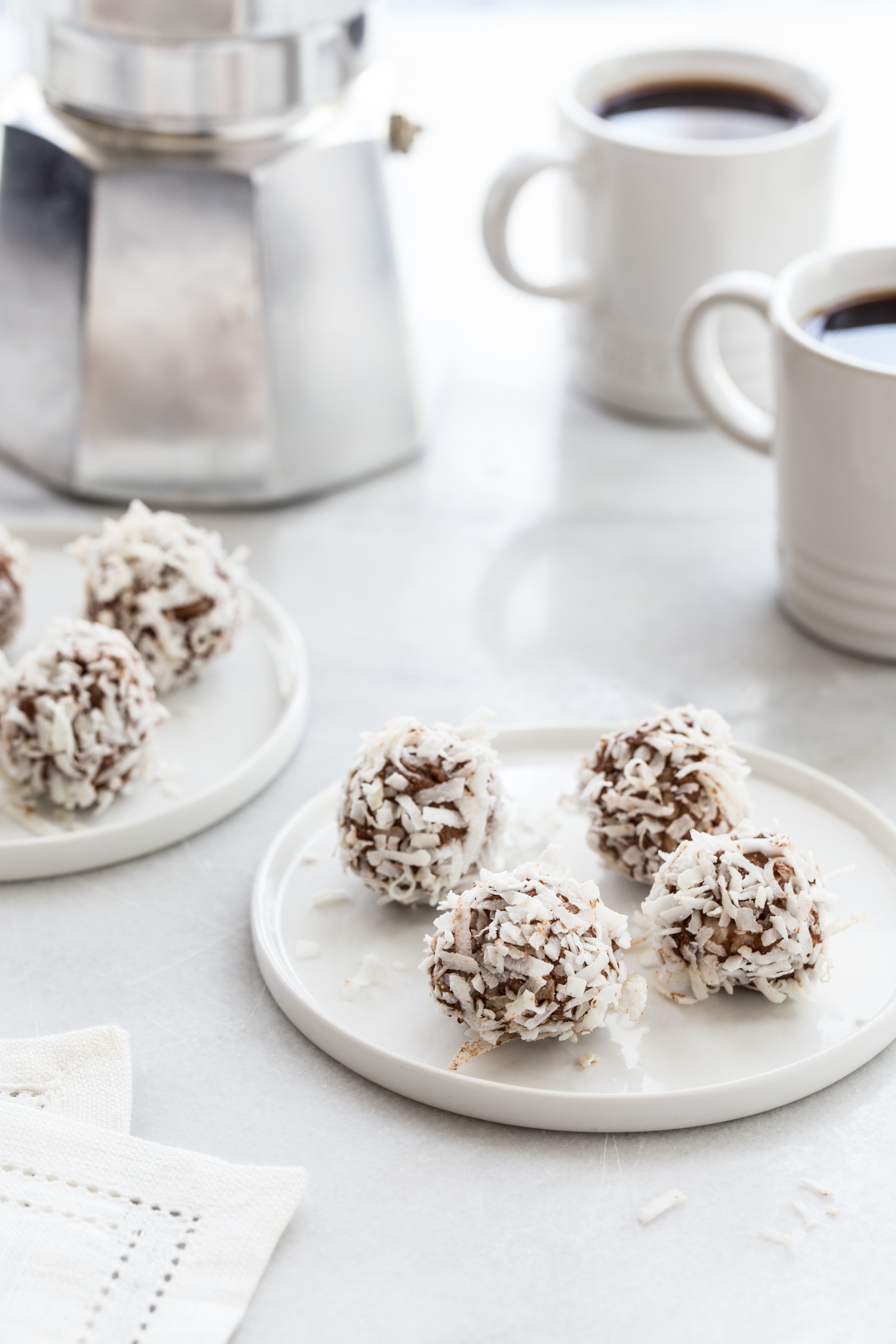 Low Carb Chocolate Coconut Truffles