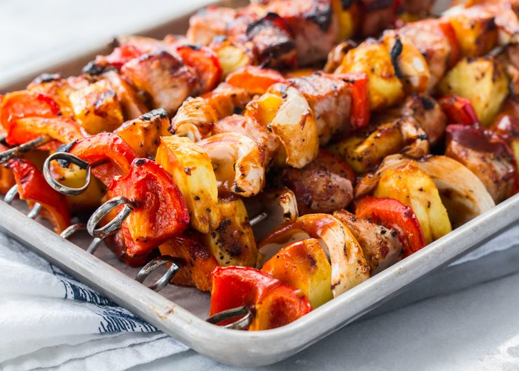 Sweet and Tangy Pork Kabobs