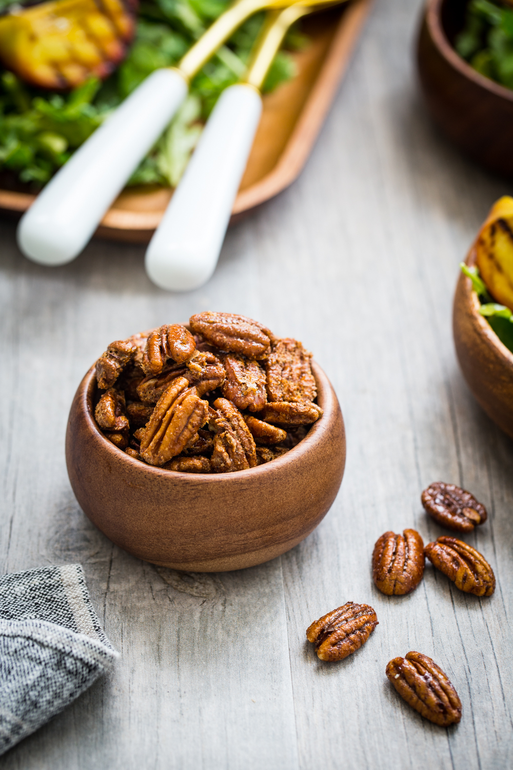 Spiced Pecans for Spiced Pecan Grilled Peach Salad