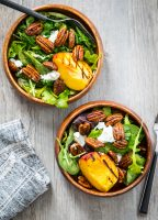 Spiced Pecan Grilled Peach Salad