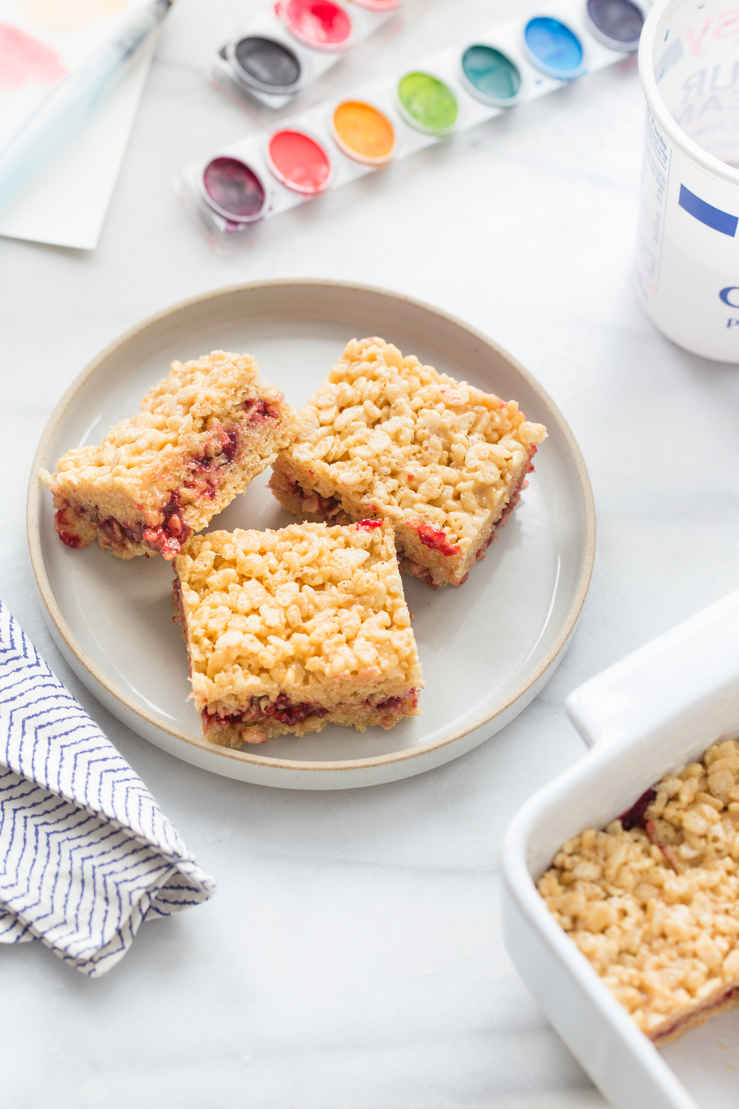 Almond Butter and Jelly Marshmallow Treats from Jelly Toast Blog