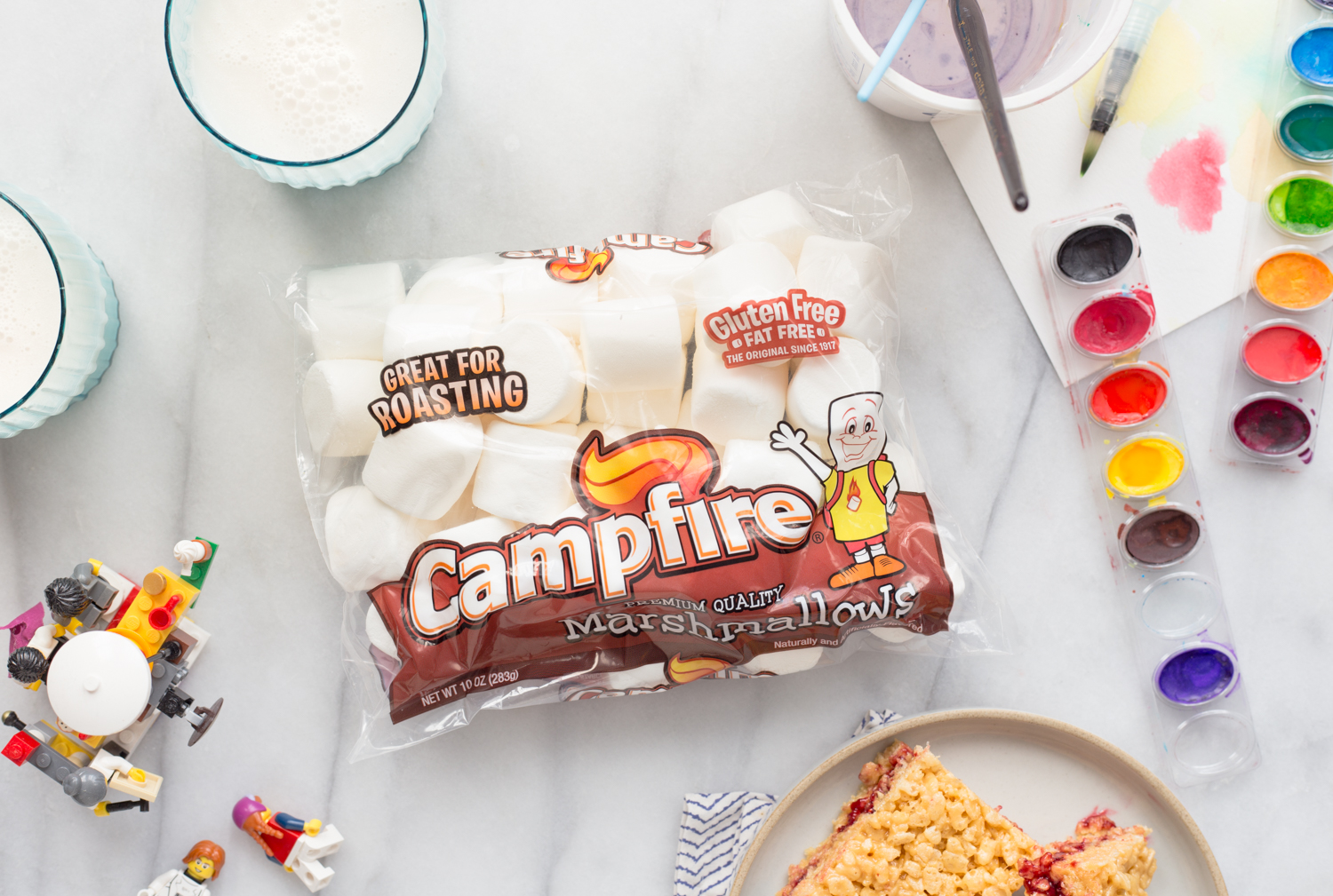 Campfire Marshmallows for Almond Butter and Jelly Marshmallow Treats