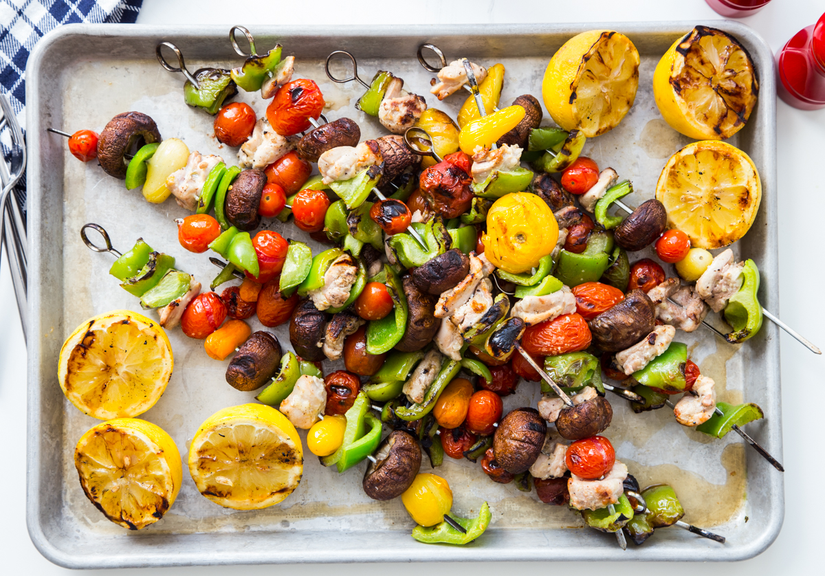 Lemon Garlic Chicken Kabobs