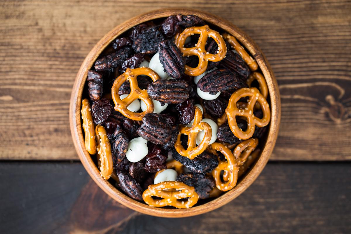 Chocolate Cherry Pecan Snack Mix