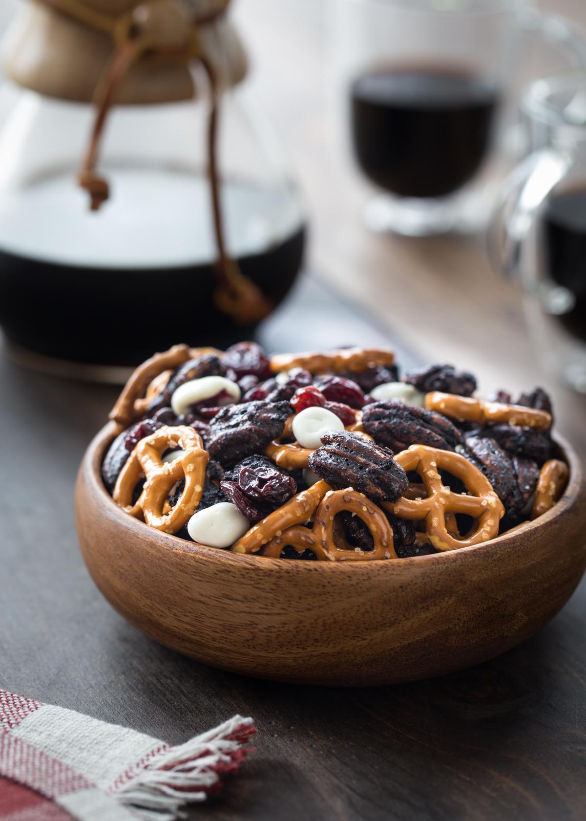 Chocolate Cherry Pecan Snack Mix | Pecan Snack Mixes Three Ways