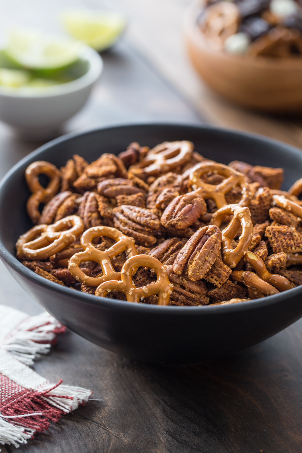Chili Lime Pecan Snack Mix | Pecan Snack Mixes Three Ways