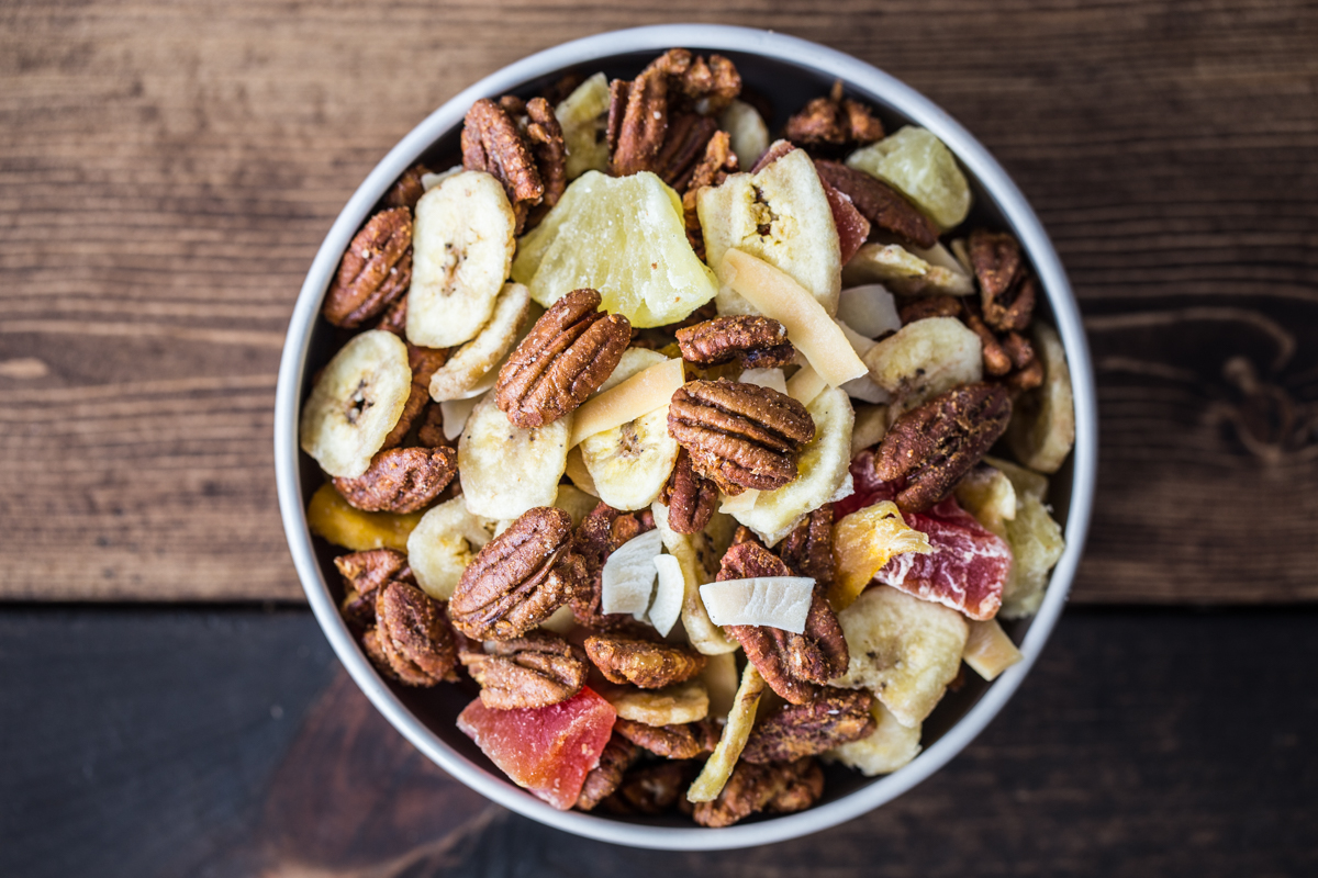 Honey Ginger Pecan Snack Mix