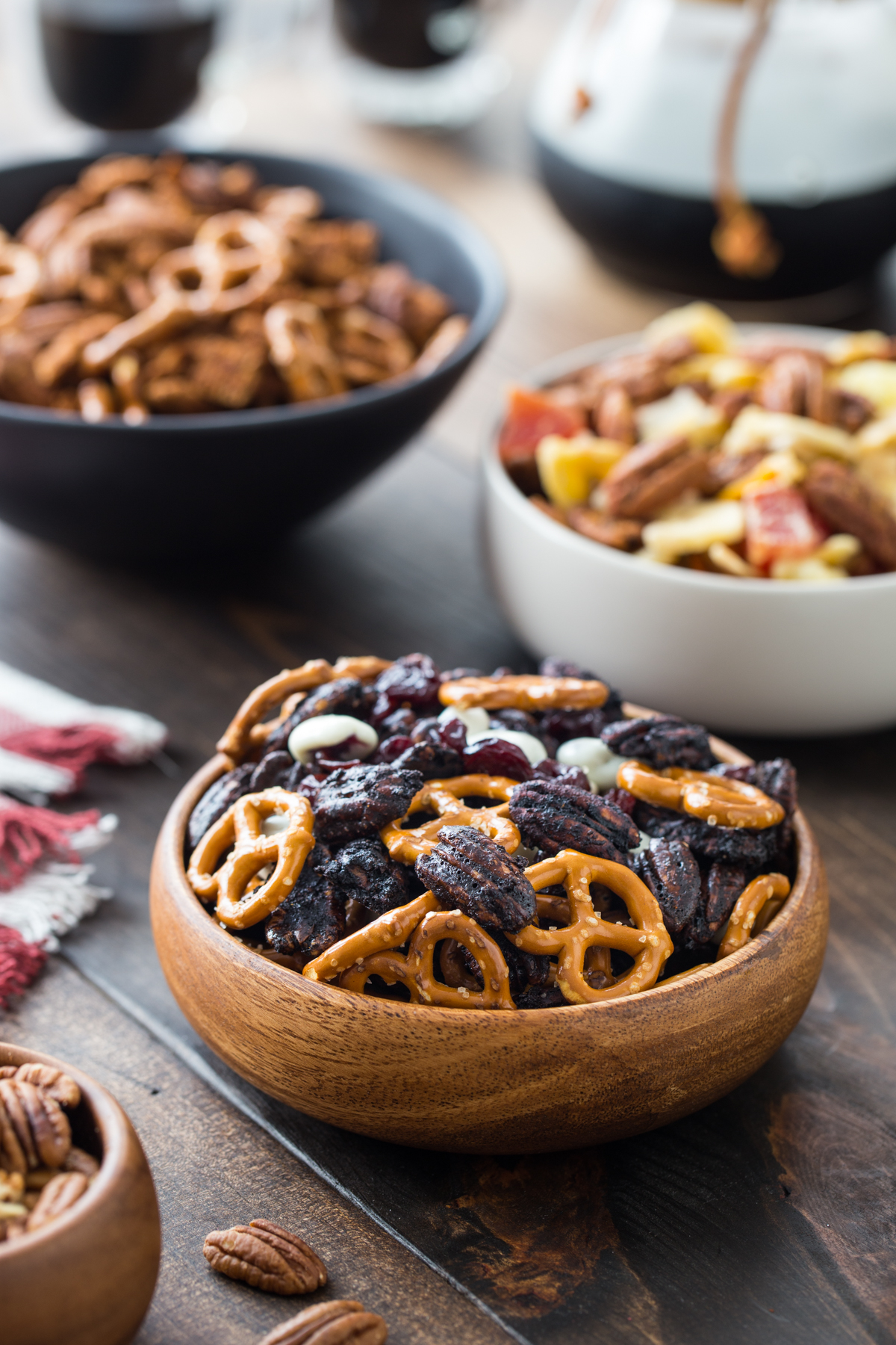 Pecan Snack Mixes Three Ways